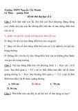 đề thi thử đại học số 4 Trường THPT Nguyễn Chí Thanh Lệ Thuỷ - quảng bình