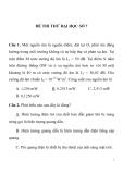 ĐỀ THI THỬ ĐẠI HỌC SỐ 7 TRƯỜNG THPT PHAN THÚC TRỰC
