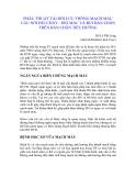 PHẪU THUẬT TÁI HỒI LƯU THÔNG MẠCH MÁU CẦU NỐI ĐÙI CHÀY - ĐÙI MÁC VÀ ĐÙI BÀN CHÂN TRÊN BÀN CHÂN TIỂU ĐƯỜNG