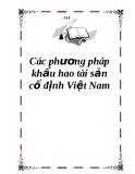 Các phương pháp khấu hao tài sản cố định Việt Nam