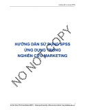 HƯỚNG DẪN SỬ DỤNG SPSS ỨNG DỤNG TRONG NGHIÊN CỨU MARKETING - Lê Văn Huy
