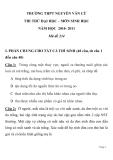 ĐỀ THI THỬ ĐẠI HỌC MÔN SINH HỌC Mã đề 234 NĂM HỌC 2010- 2011TRƯỜNG THPT NGUYỄN VĂN CỪ