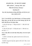 ĐỀ KIỂM TRA ÔN THI TỐT NGHIỆP MÔN: SINH HỌC Mã đề thi 479