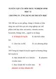 TUYỂN TẬP CÂU HỎI TRẮC NGHIỆM SINH HỌC 12 CHƯƠNG IV. ỨNG DỤNG DI TRUYỀN HỌC