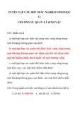 TUYỂN TẬP CÂU HỎI TRẮC NGHIỆM SINH HỌC 12 CHƯƠNG IX. QUẦN XÃ SINH VẬT