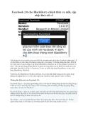 Facebook 2.0 cho BlackBerry chính thức ra mắt