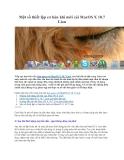 Một số thiết lập cơ bản khi mới cài MacOS X 10.7 Lion
