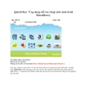 QuickShot Ứng dụng hỗ trợ chụp ảnh màn hình BlackBerry