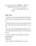 Giáo án Vật lý 12 nâng cao - TIẾT 2-3  PHƯƠNG  TRÌNH ĐỘNG LỰC HỌC CỦA VẬT RẮN QUAY QUANH MỘT TRỤC CỐ ĐỊNH