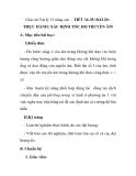 Giáo án Vật lý 12 nâng cao - TIẾT 34-35: BÀI 20 : THỰC HÀNH: XÁC ĐỊNH TỐC ĐỘ TRUYỀN ÂM