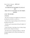 Giáo án Vật lý 12 nâng cao - TIẾT 22-23 THỰC HÀNH XÁC ĐỊNH CHU KỲ DAO ĐỘNG CỦA CON LẮC ĐƠN HOẶC CON LẮC LÒ XO HOẶC GIA TỐC TRỌNG TRƯỜNG