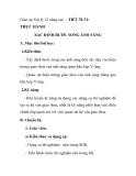 Giáo án Vật lý 12 nâng cao - TIẾT 70-71: THỰC HÀNH XÁC ĐỊNH BƯỚC SÓNG ÁNH SÁNG