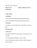 Giáo án Vật lý 12 nâng cao TIẾT 58 - 59: ÁNH SÁNG HIỆN TƯỢNG TÁN SẮC