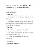 Giáo án Vật lý 12 nâng cao - TIẾT 94-95-96:  BÀI  TẬP PHÓNG XẠ VÀ PHẢN ỨNG HẠT NHÂN