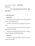Giáo án Vật lý 12 nâng cao - TIẾT 89-B: CỦNG CỐ CẤU TẠO HẠT NHÂN NGUYÊN TỬ - ĐỘ HỤT KHỐI