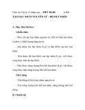 Giáo án Vật lý 12 nâng cao - TIẾT 88-89:  CẤU  TẠO HẠT NHÂN NGUYÊN TỬ - ĐỘ HỤT KHỐI