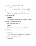 Giáo án Vật lý 12 nâng cao - TIẾT 81-B: CỦNG CỐ SỰ HẤP THỤ ÁNH SÁNG, PHẢN XẠ LỌC LỰA ÁNH SÁNG. MÀU SẮC CÁC VẬT