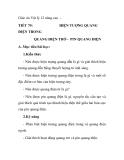 Giáo án Vật lý 12 nâng cao TIẾT 79: ĐIỆN TRONG QUANG ĐIỆN TRỞ - PIN QUANG ĐIỆN