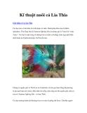 Kĩ thuật nuôi cá Lia Thia