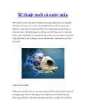 Kĩ thuật nuôi cá nước mặn