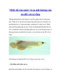 Nhiệt độ của nước và sự ảnh hưởng của nó đối với cá rồng