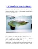 Cách chuẩn bị hồ nuôi cá Rồng