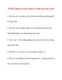 10 điều giúp con bạn nâng cao hiệu quả đọc sách