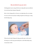 Điều cần biết khi bổ sung nước cho bé
