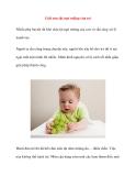 Giải oan tật ngó miệng của trẻ