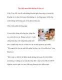 Tạo thói quen dinh dưỡng tốt cho trẻ
