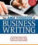 Sách THE AMA HANDBOOK OF BUSINESS WRITING