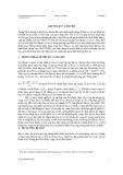 Giáo trình phân tích tài chính -  Bài giảng 5  LỢI NHUẬN VÀ RỦI RO AILEN