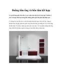 Buồng tắm ống và bồn tắm kết hợp