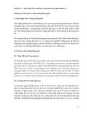 CƠ SỞ MÔI TRƯỜNG ĐẤT, NƯỚC, KHÔNG KHÍ - PHẦN IV MÔI TRƯỜNG KHÔNG KHÍ - CHƯƠNG 1