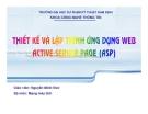 Thiết kế và lập trình ứng dụng web Active Sever Page