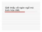 Phân tích thiết kế hướng đối tượng - Giới thiệu về ngôn ngữ mô hình hóa UML