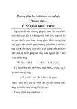 Phương pháp làm bài nhanh trắc nghiệm Phương pháp 6 TĂNG GIẢM KHỐI LƯỢNG