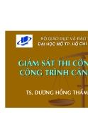 Giám sát thi công công trình cảng - TS. Dương Hồng Thẩm