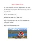 Chuẩn bị cho bé tập đi xe đạp
