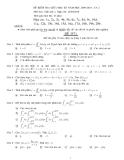 Đề kiểm tra giữa kì môn Toán Giải tích - ĐH Bách Khoa TPHCM (Kèm đáp án)