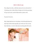 Khi bé 'tè dầm' lúc ngủ