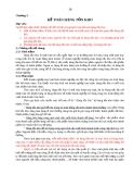 Chương 3:  KẾ TOÁN HÀNG TỒN KHO