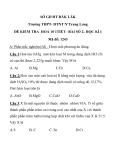 Đề kiểm tra 1 tiết Hoá học 10 trắc nghiệm