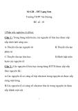Đề kiểm tra 1 tiết Hóa 10 - THPT Na Dương