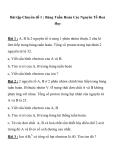 BÀI TẬP HÓA HỌC HAY LỚP 10 Chuyên đề 1 : Bảng Tuần Hoàn Các Nguyên Tố Hoá Học