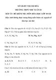 Đề kiểm tra 15 phút Hoá 10 - THPT Như Xuân 2