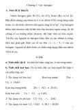 Đề ôn thi học sinh giỏi môn Hóa khối 10 chuyên đề 2 : Hóa phi kim
