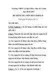 Đề kiểm tra 1 tiết Hoá 10 - THPT Lê Quý Đôn