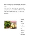Canh gà lá giang, dưa chua xào thịt quay, rau câu dừa xiêm