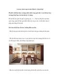 Các lưu ý khi trang trí nhà (Phần 2)- Chọn đồ gỗ